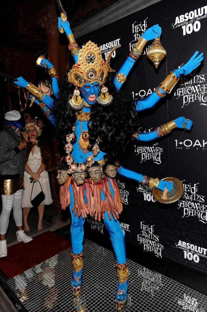 Heidi Klum as Kali, Hindu Goddess